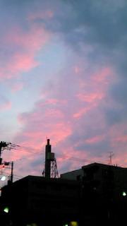 *見上げた空は…*